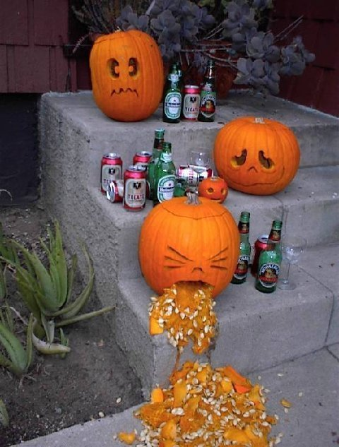 Watch out for drunken pumpkins!