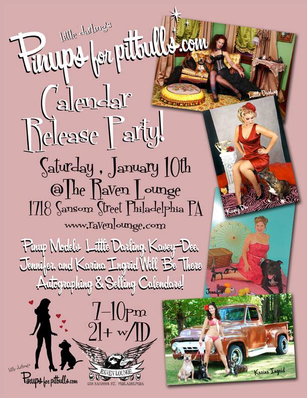 Pinups for Pitbulls Charity Calendar Release Party