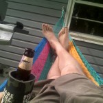 Just chillin in the Hammock, drinking a Dogfish Head
